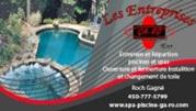 entretien ,ouverture, fermeture,réparation,spa,piscine